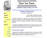 Price One Penny: A Database of Cheap Literature, 1837-1860