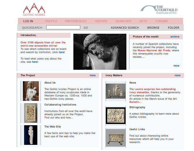 Gothic Ivories Project at the Courtauld Institute of Art