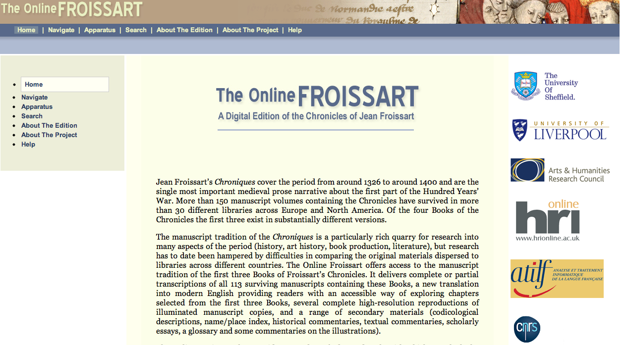 The Online Froissart