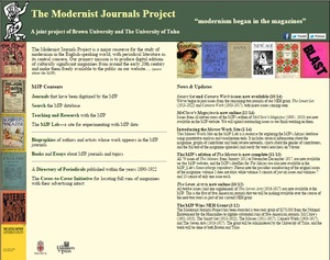 Modernist Journals Project: New Age