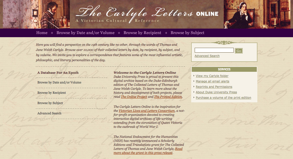 Carlyle Letters Online