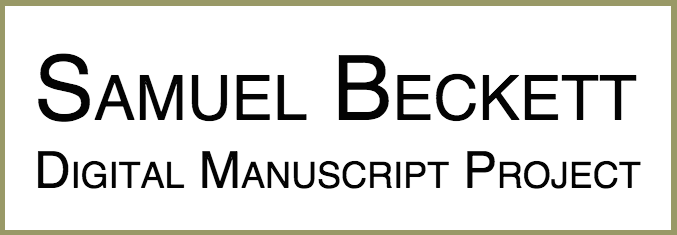 Samuel Beckett Digital Manuscript Project