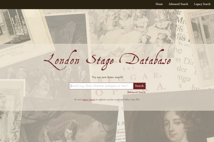 The London Stage Database