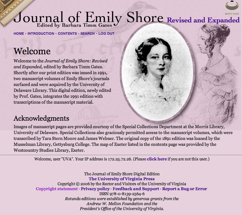 Journal of Emily Shore: Revised and Expanded