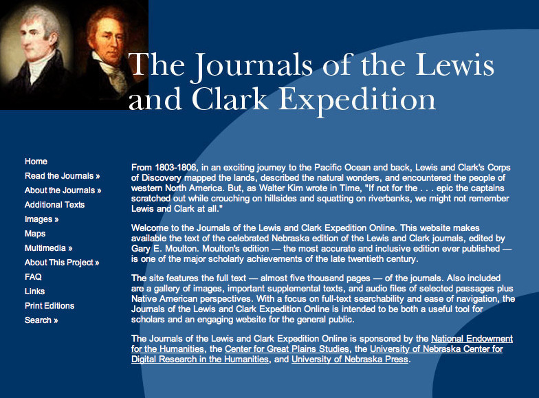 The Journals of the Lewis and Clark Expedition Online